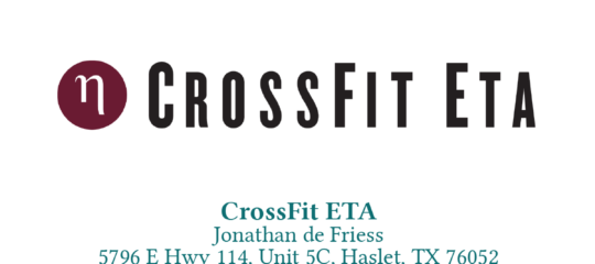 Welcome New Member: CrossFit ETA